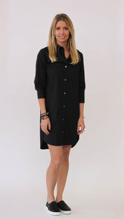 Frame Le Poplin Dress Noir at Blond Genius - 1
