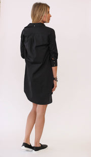 Frame Le Poplin Dress Noir at Blond Genius - 2