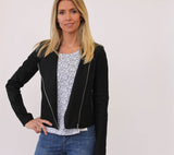 Central Park West Linen Jacket black at Blond Genius - 2