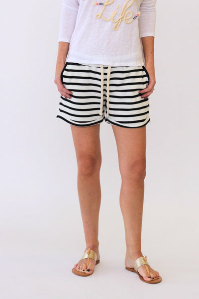 White + Warren Drawcord Short at Blond Genius - 1