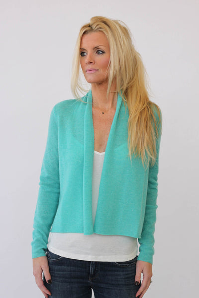 White + Warren Layer Cardigan at Blond Genius