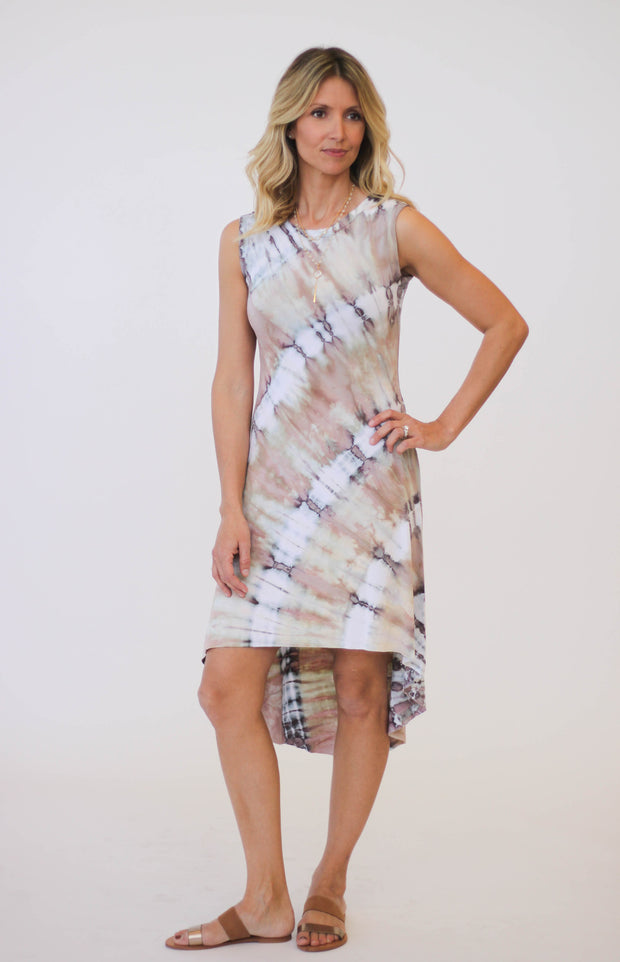 Brightly Twisted Hi Low Frock Dress at Blond Genius - 2