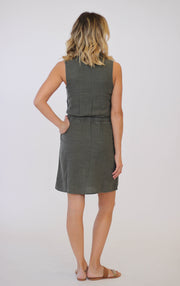 Splendid Marina Pinstripe Dress Military Dress at Blond Genius - 2
