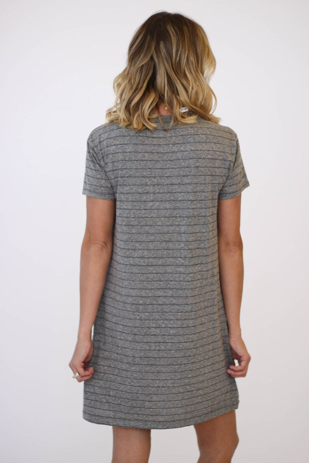 Current/Elliott The Knit Tee Dress Heather at Blond Genius - 2