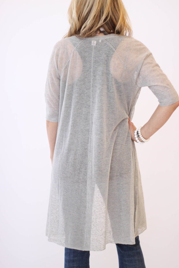 White + Warren Long Trapeze Cardigan at Blond Genius - 2