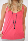 Velvet Emmalee Tank in Flirty Color at Blond Genius - 1