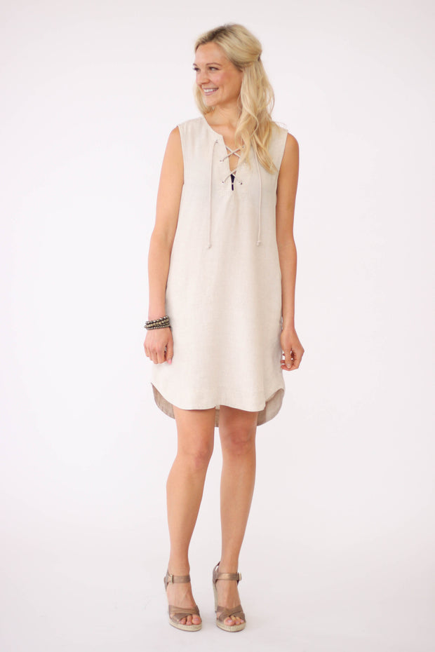 Bella Dahl Lace Up Dress at Blond Genius - 1