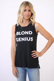 Blond Genius Blond Genius Trademark Muscle Tee Black at Blond Genius - 1