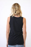 Blond Genius Blond Genius Trademark Muscle Tee Black at Blond Genius - 2