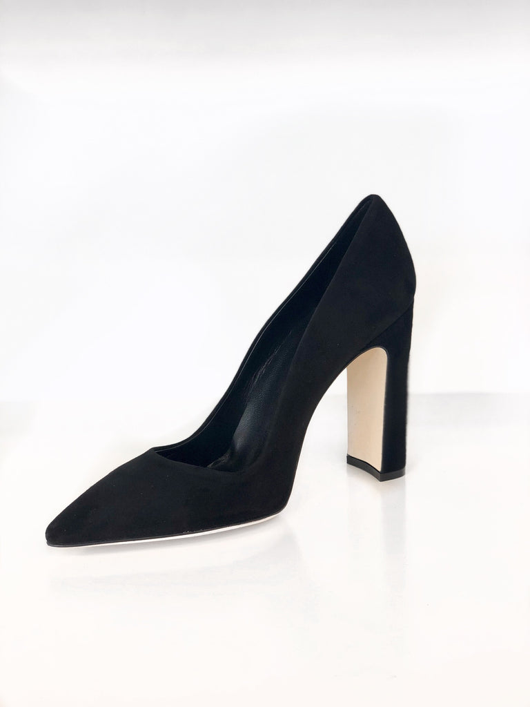 Dee Keller- Parker Pointed Toe Pump Black Suede
