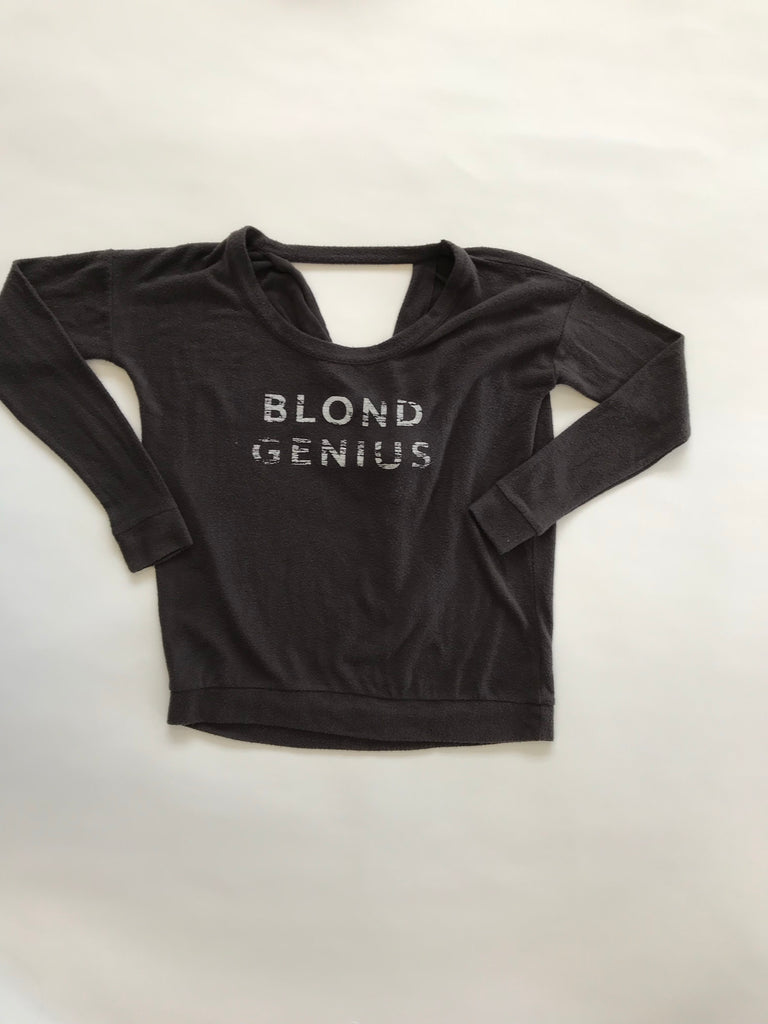Blond Genius - Distressed Open Back Sweatshirt Asphalt