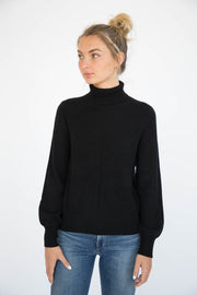 Eleis Collective - The Blouson Sleeve Turtleneck - Black