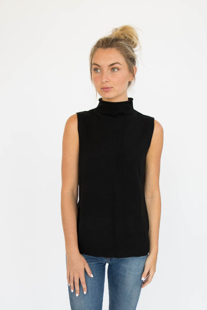 Eleis Collective- The Side Slit Tank - Black