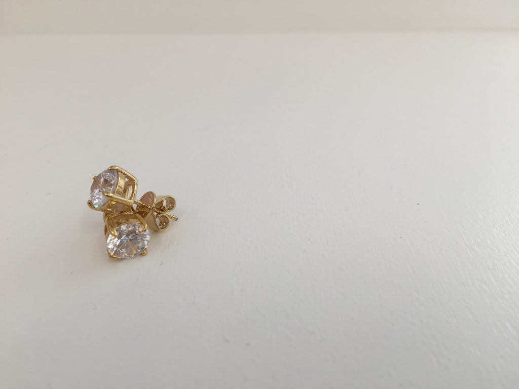 Crislu Gold Vermeil Stud Earrings at Blond Genius - 2