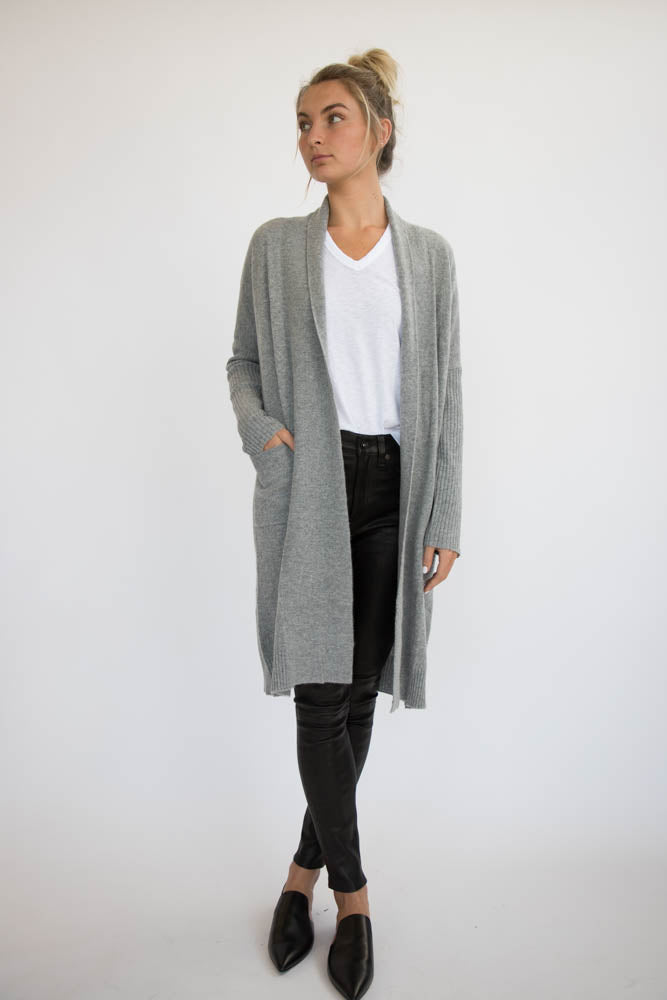 Eleis Collective - The Ribbed Duster - Heather Grey