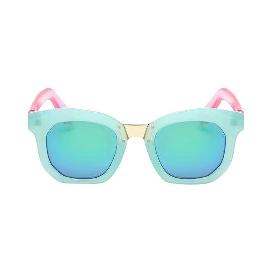 Henny & Coco - Hadley Sunglasses in Aqua Lens with Pink Temple