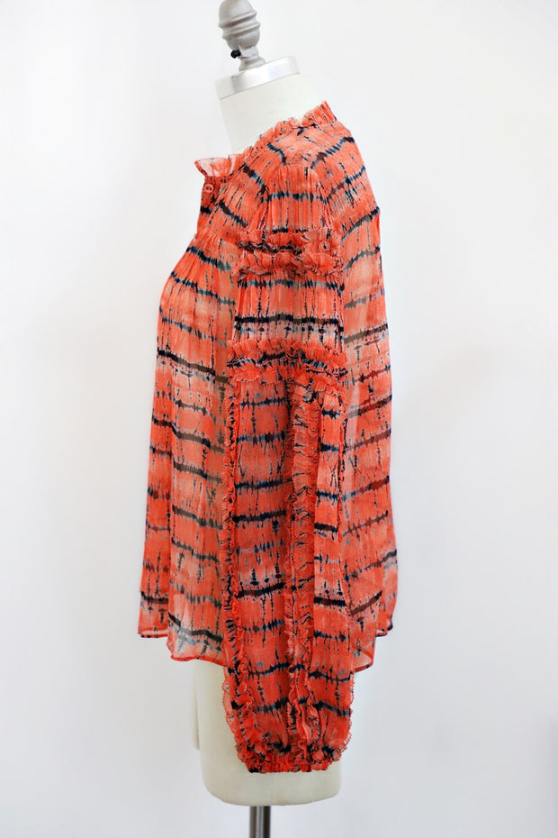 Ulla Johnson - Mari Blouse in Chili Tie Dye
