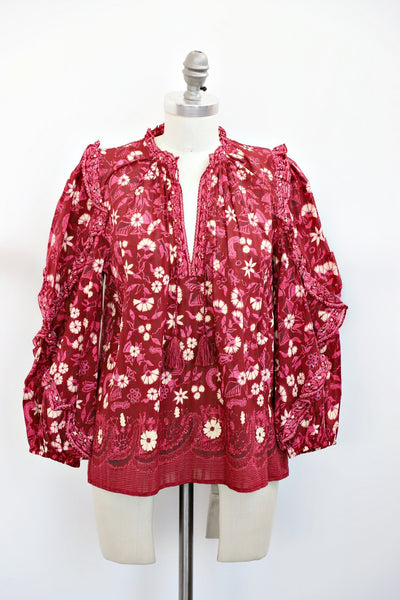 Ulla Johnson - Azalea Blouse in Burgundy