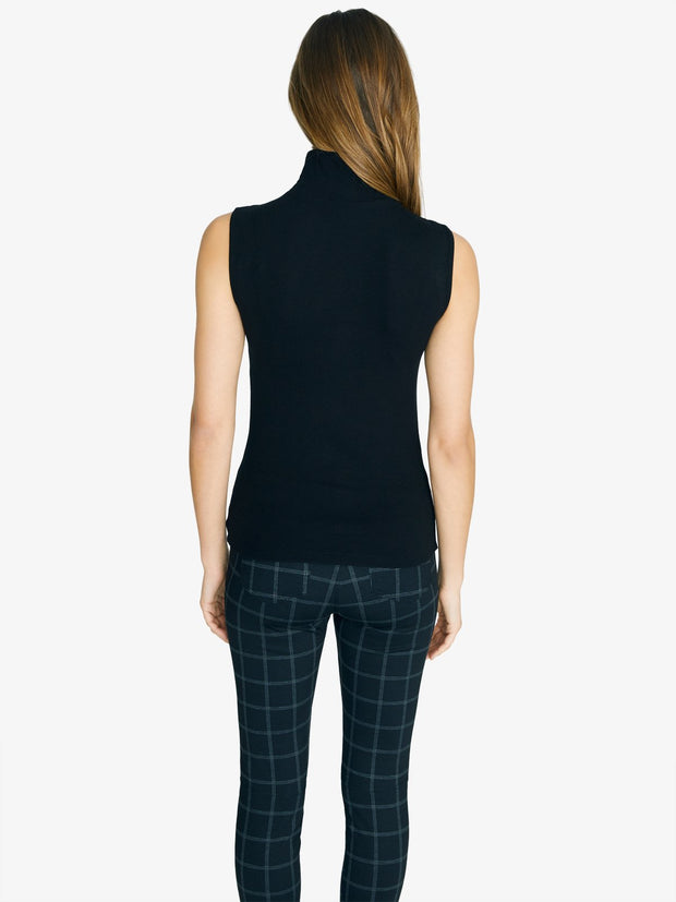 Sanctuary - Essential Sleeveless Mock Neck Blouse in Black