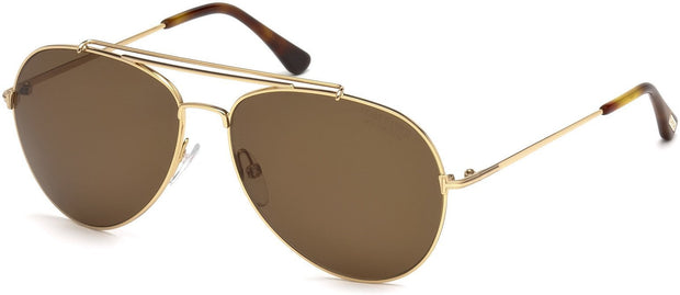 Tom Ford - Indiana Shiny Rose Gold/Brown Polarized