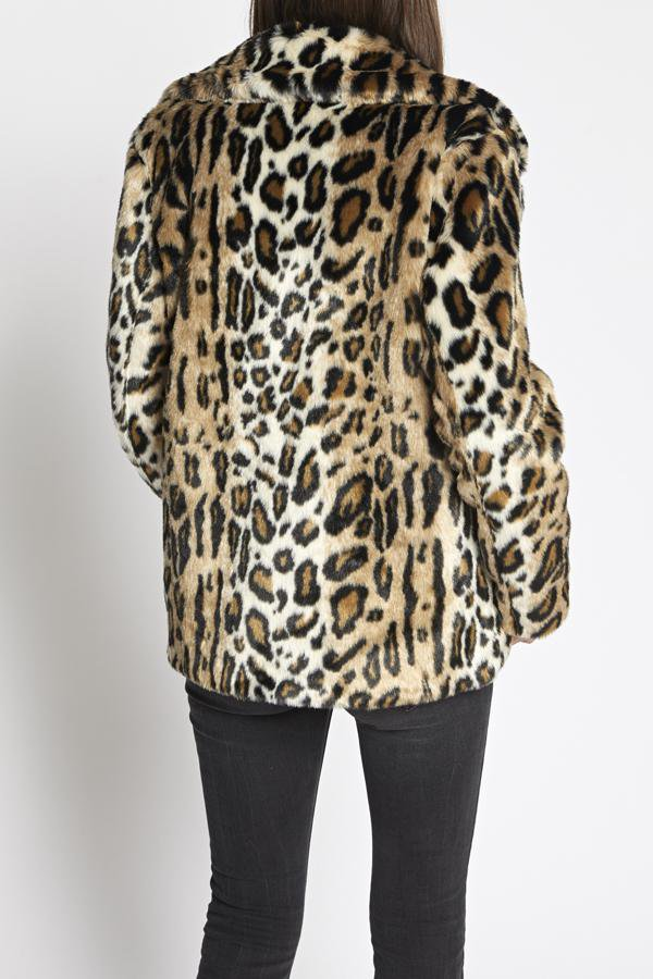 SANCTUARY - Seeing Spots Faux Fur Coat Leopard