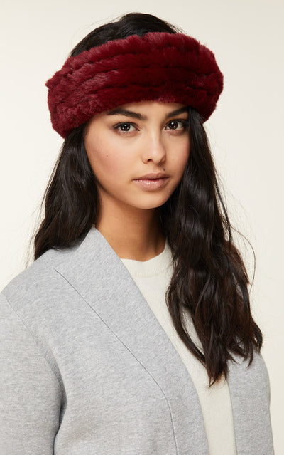 Soia & Kyo - Jaleh Elastic Headband in Oxblood