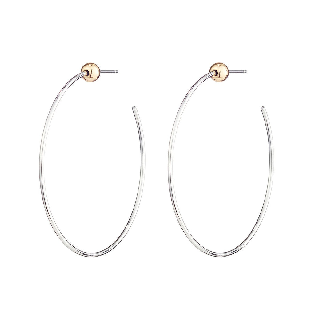 Jenny Bird - Icon Hoops Small Rhodium/Gold