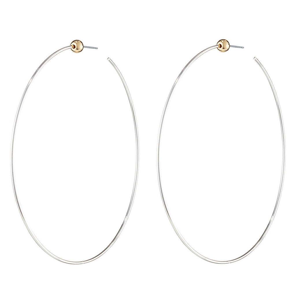 Jenny Bird - Icon Hoops Rhodium/Gold Medium