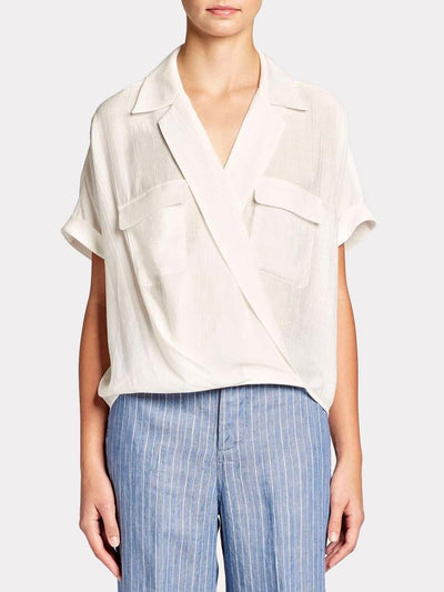 BROCHU WALKER - Josie Blouse in Salt White