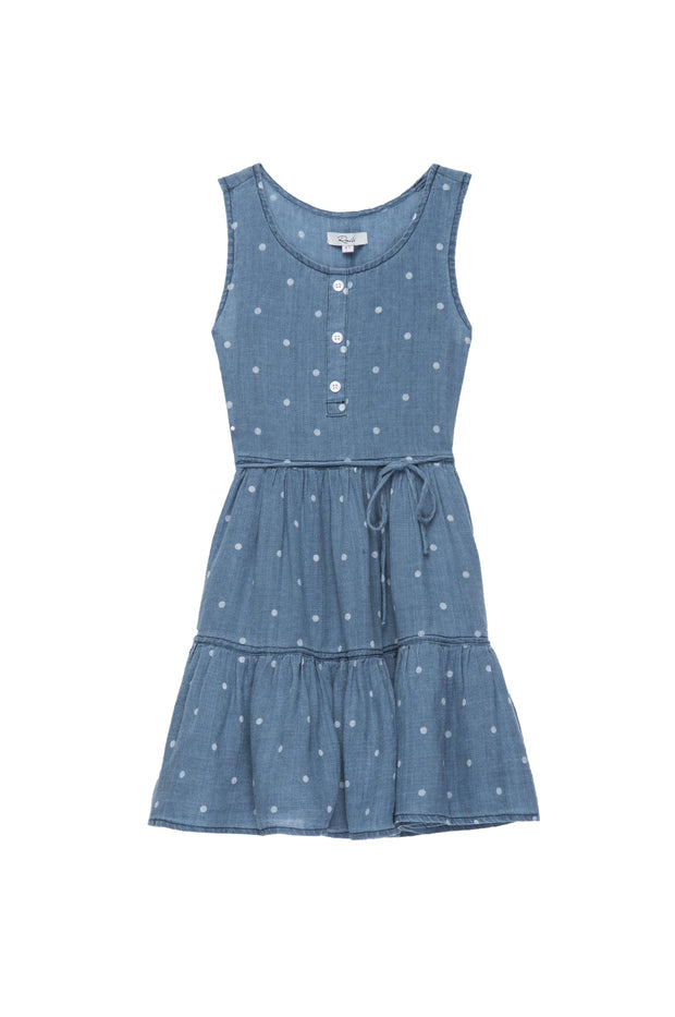 Little Rails - Katie Polka Dot Indigo