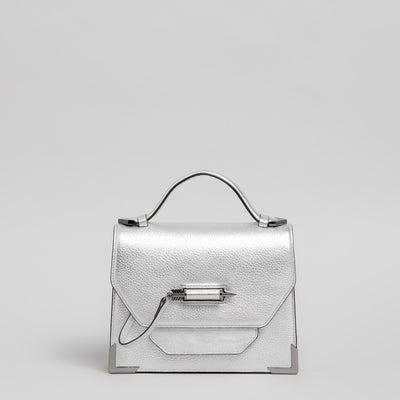 Mackage - Keeley Leather Crossbody Bag in Silver