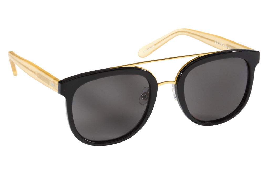 Krewe du Optic CL-10 Black + Matte Champagne Polarized 24K at Blond Genius - 2