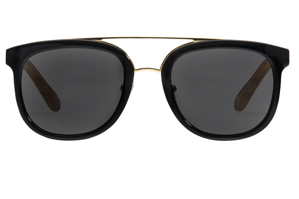 Krewe du Optic CL-10 Black + Matte Champagne Polarized 24K at Blond Genius - 1