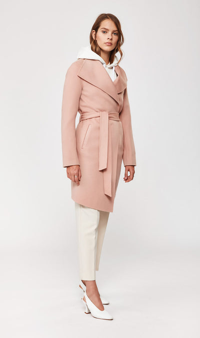 Mackage - Laila Double-face Wool Coat in Petal