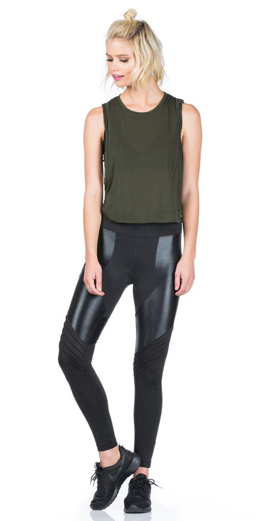 Koral Koral - Lateral High Rise Legging Black at Blond Genius - 1