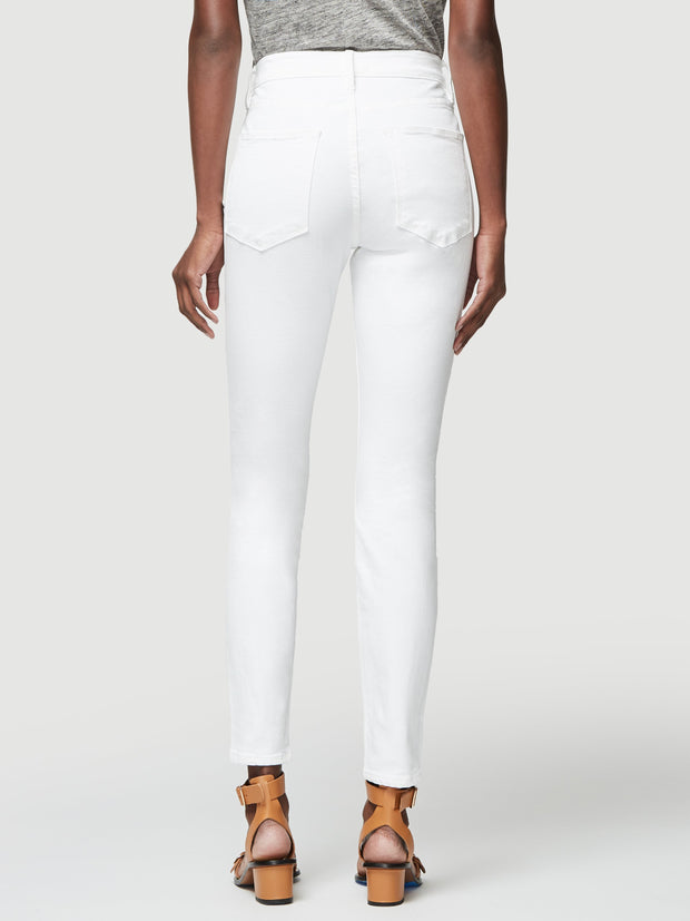 Frame - Le High Skinny Button Fly Blanc Street