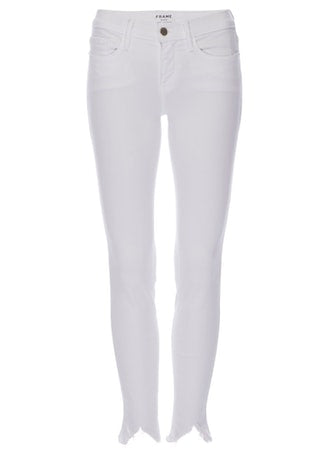 Frame - Le High Skinny Double Triangle Raw Blanc