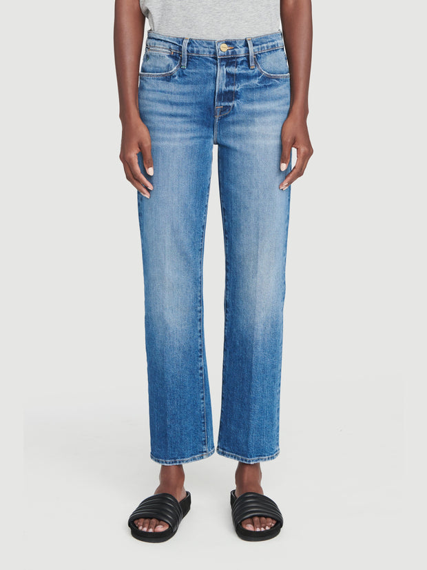 Frame - Le High Straight High Rise Jeans in Hagen