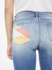Frame - Le Skinny De Jeanne Color Block Mid-Rise Jeans in Willowspring