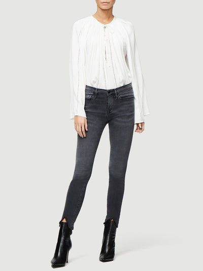 FRAME - Le Skinny De Jeanne Crop Double Triangle Raw Hem in Tull