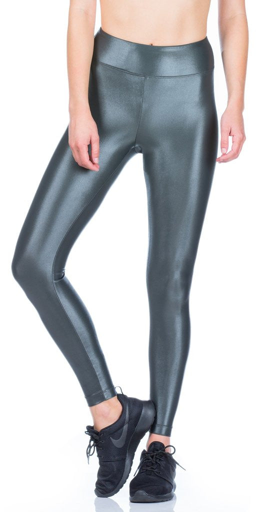 Koral Koral - Lustrous High Rise Legging Gunmetal at Blond Genius - 1