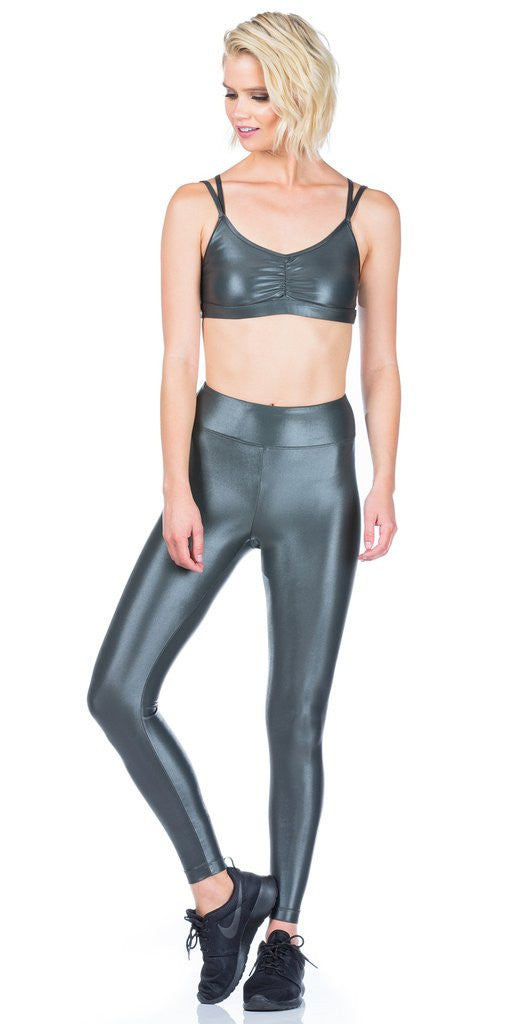 Koral Koral - Lustrous High Rise Legging Gunmetal at Blond Genius - 3