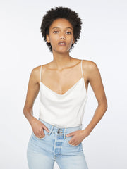 Frame - Cowl Cami in Off White