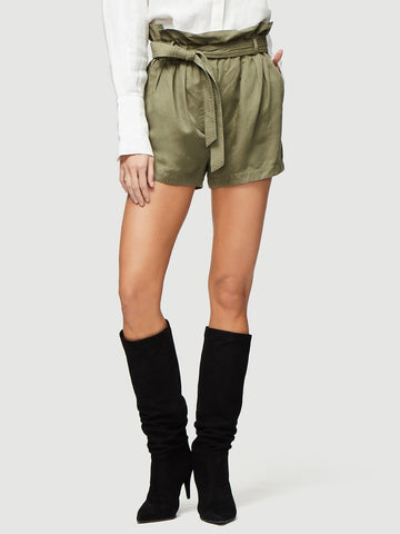 Frame - Paperbag Pocket High Rise Short Army Green