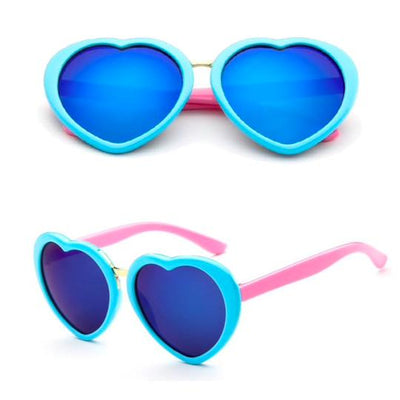 Henny & Coco - Kari Sunglasses in Blue Lens Heart