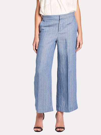 BROCHU WALKER - Landon Cropped Pant in Dume Chambray Stripe