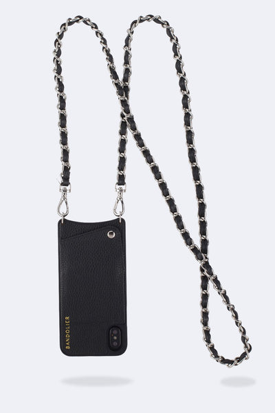 Bandolier - Lucy Black/Silver for 8/7/6 Plus
