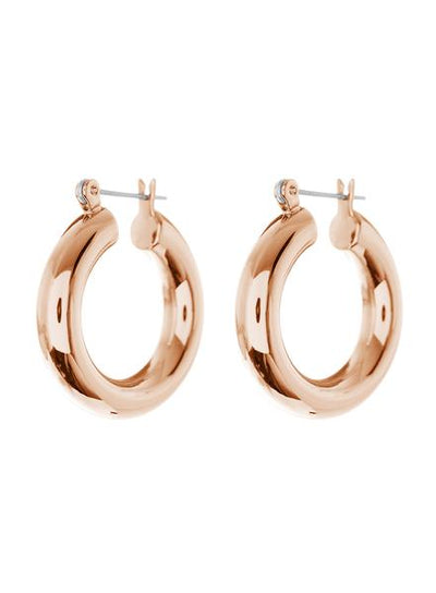 LUV AJ - The Baby Amalfi Tube Hoops in Rose Gold