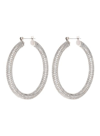 LUV AJ - Pave Amalfi Hoops in Silver