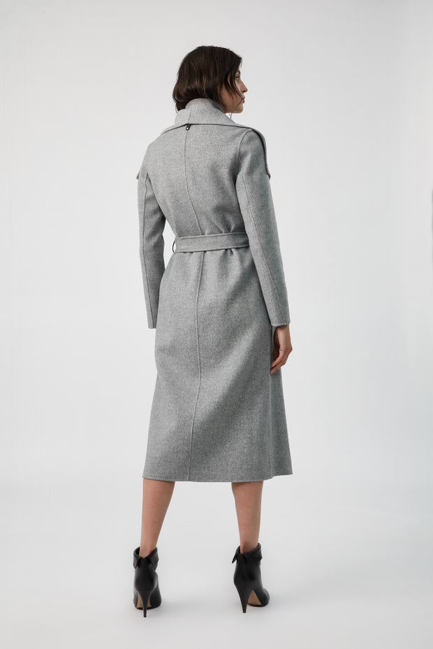 MACKAGE - Mai Wool Coat in Light Grey